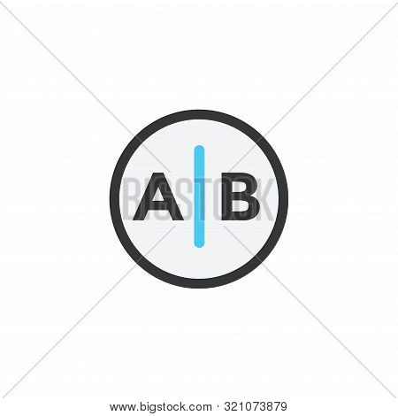 Testing, Trial, Research Icon With A And B Letters