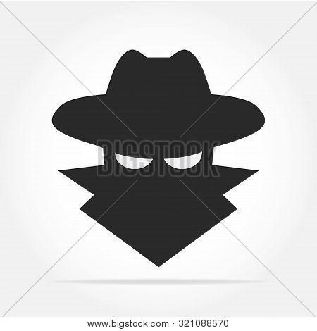 Spyware icon in simple design. Vector illustration poster