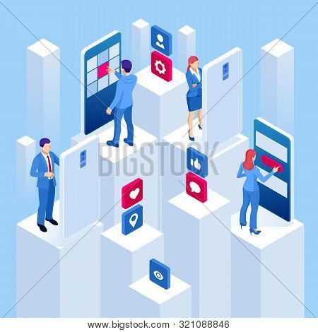 Isometric Promotion In Social Networks Or Smm Promotion, Online Analytics.