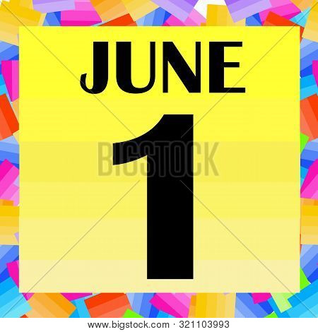 June 1, For Planning Important Day. Banner For Holidays , Particular Days. Illustration