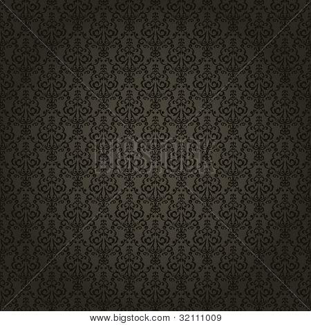 Damask seamless wallpaper on dark  background. Stylish and luxury