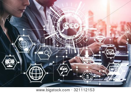 Seo Search Engine Optimization Business Concept.