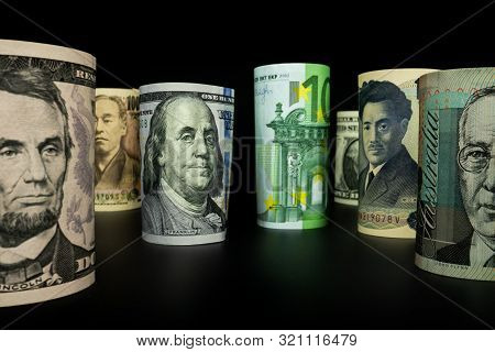 International Money Exchange. Foreign Currency.