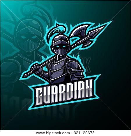 Guardian Esports Mascot Logo Design With Text