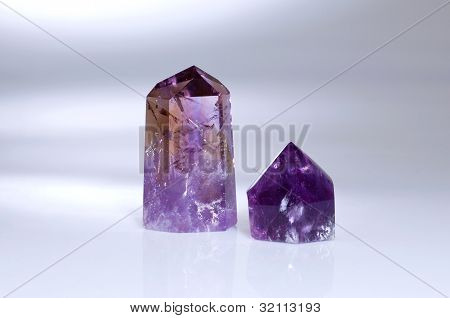 Two Amethyst Menhirs