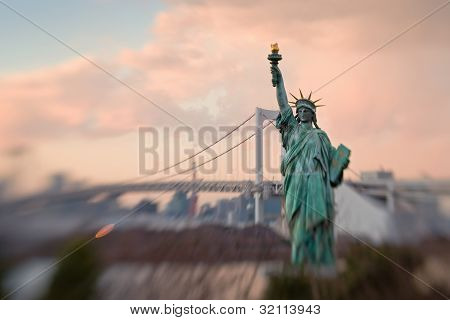 Statue Of Liberty Replica In Tokyo Bay