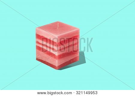 Large Square Multilayer - Red Interior Candle