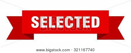 Selected Ribbon. Selected Isolated Sign. Selected Banner