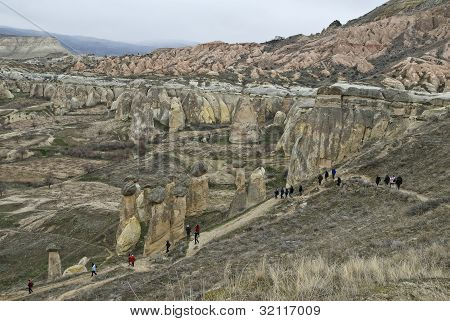 Amazing geological features near town Urgup, Cappadocia, Turkey.