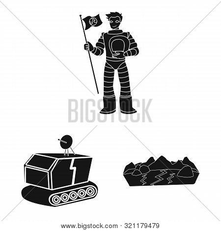Vector Design Of Colonization And Sky Icon. Collection Of Colonization And Galaxy Stock Vector Illus