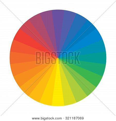 Spectral Rainbow Circle of 12 Multicolor Polychrome Segments. The spectral harmonic colorful palette of the painter. poster