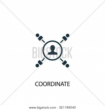 Coordinate Icon. Simple Element Illustration. Coordinate Concept Symbol Design. Can Be Used For Web