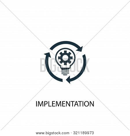 Implementation Icon. Simple Element Illustration. Implementation Concept Symbol Design. Can Be Used