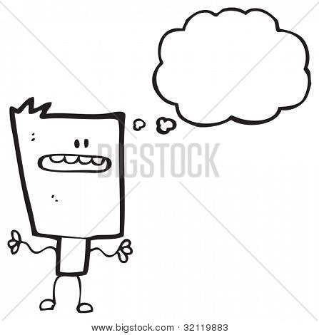 cartoon blockhead
