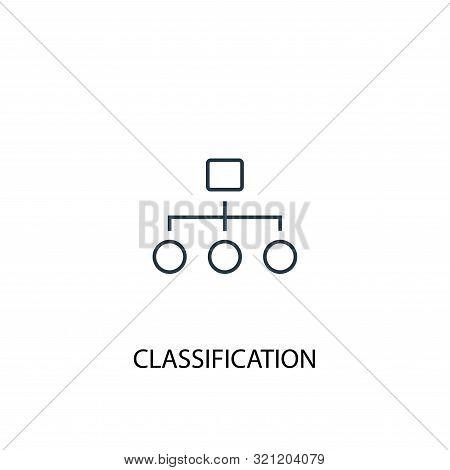 Classification Concept Line Icon. Simple Element Illustration. Classification Concept Outline Symbol