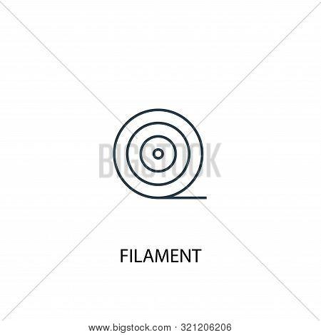 Filament Concept Line Icon. Simple Element Illustration. Filament Concept Outline Symbol Design. Can