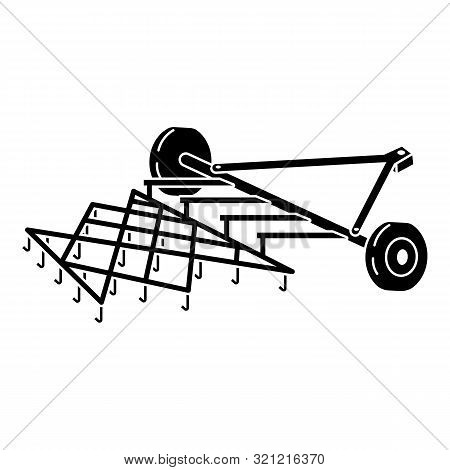 Tractor Cultivator Icon. Simple Illustration Of Tractor Cultivator Vector Icon For Web Design Isolat