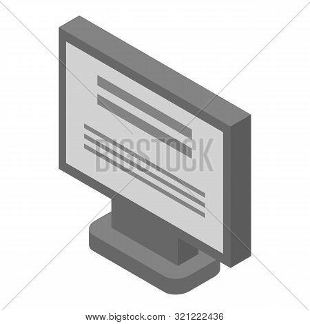 Oled Computer Monitor Icon. Isometric Of Oled Computer Monitor Vector Icon For Web Design Isolated O