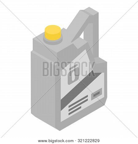Number One Motor Oil Icon. Isometric Of Number One Motor Oil Vector Icon For Web Design Isolated On