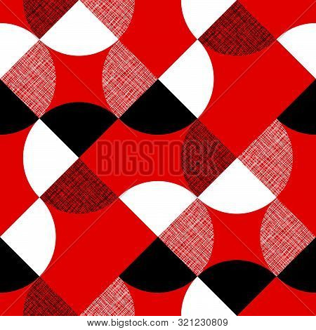 Red Textured Color Diagonal Seamless Pattern