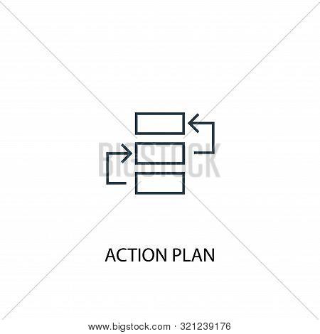 Action Plan Concept Line Icon. Simple Element Illustration. Action Plan Concept Outline Symbol Desig