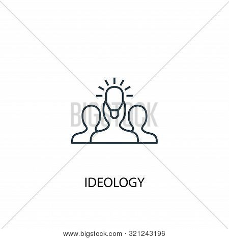 ideology concept line icon. Simple element illustration. ideology concept outline symbol design. Can be used for web and mobile poster