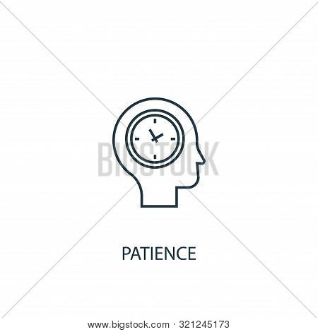 Patience Concept Line Icon. Simple Element Illustration. Patience Concept Outline Symbol Design. Can