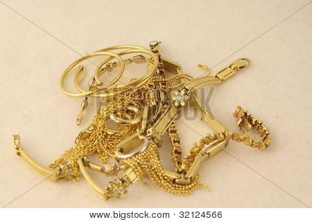 Pile Gold Jewelry