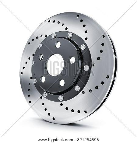 Car Brake Disk On White Background