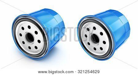 Oil Filter Car, 3D Illustration
