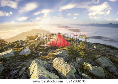 Flags In The Wind In The Mountains, Rainbow
