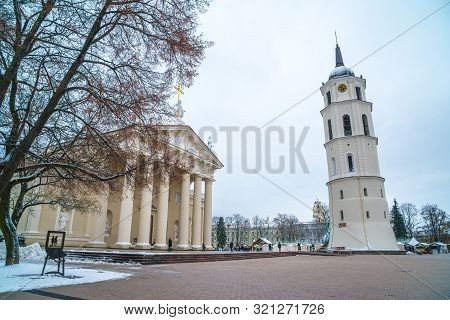 Vilnius, Lithuania - 05.01.2019: The Cathedral Of St. Stanislav And St. Vladislav.