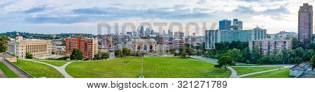 Kansas City In The State Of Missouri, United States Of America, Skyline As Seen From The National Wo