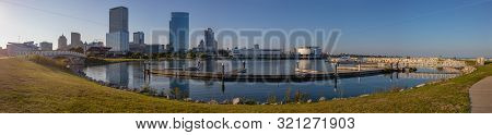 Milwaukee, City In The State Of Wisconsin, United States Of American, As Seen On The Afternoon From