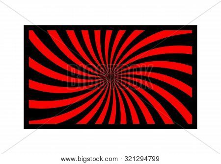 Spiral Background With Red And Black. Suitable For Vintage And Modern Backgrounds.