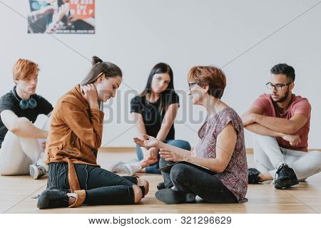 Girl On A Group Therapy