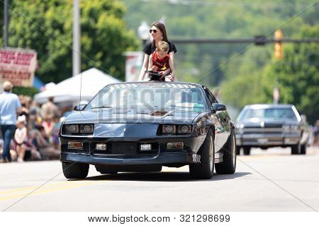 Buckhannon, West Virginia, Usa - May 18, 2019: Strawberry Festival, Chevrolet, Camaro, Classic Car,