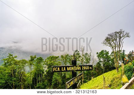 Top Of Mountain In Cocora Valley Next To Salento, Colombia