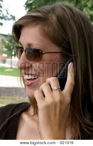Young Woman On Cell Phone