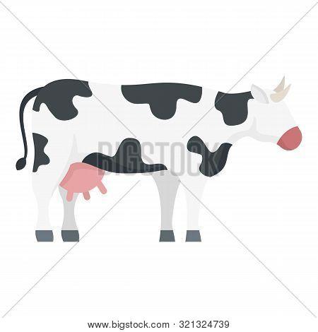 Bovine Cow Icon. Flat Illustration Of Bovine Cow Vector Icon For Web Design