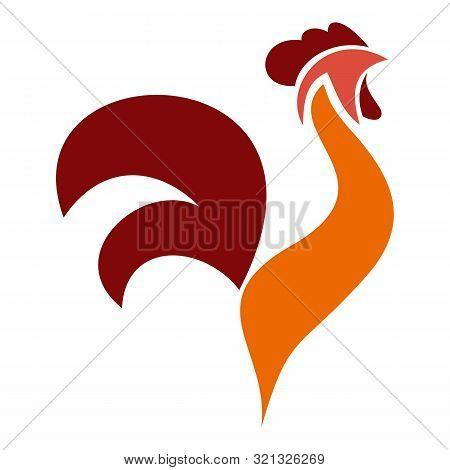 Rooster Bird Logo. Flat Illustration Of Rooster Bird Vector Logo For Web Design