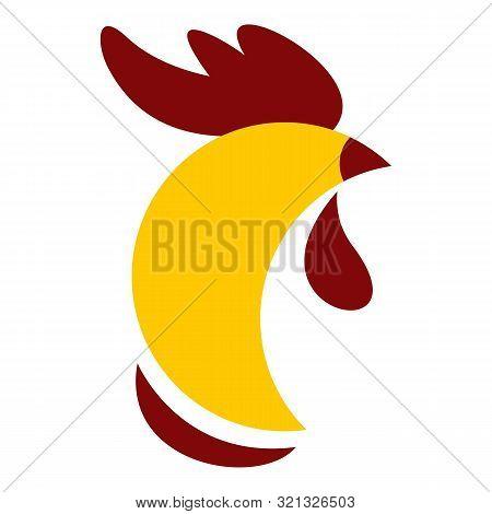 Cock Head Logo. Flat Illustration Of Cock Head Vector Logo For Web Design