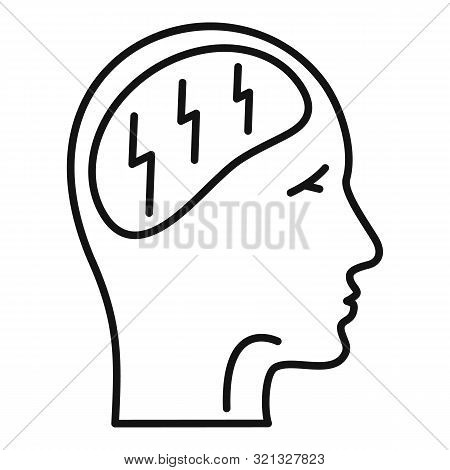 Forget Memory Disease Icon. Outline Forget Memory Disease Vector Icon For Web Design Isolated On Whi