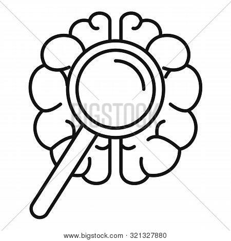 Brain Dementia Icon. Outline Brain Dementia Vector Icon For Web Design Isolated On White Background