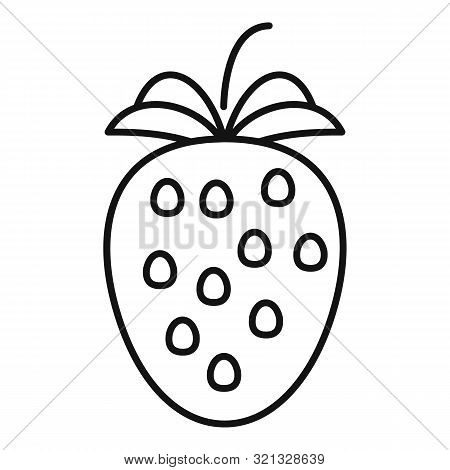 Strawberry Icon. Outline Strawberry Vector Icon For Web Design Isolated On White Background