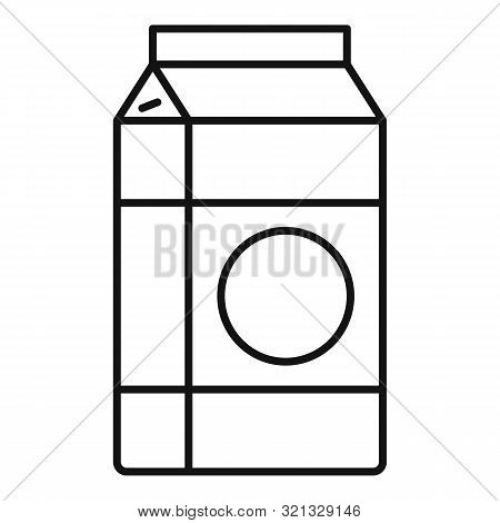 Milk Tetra Pack Icon. Outline Milk Tetra Pack Vector Icon For Web Design Isolated On White Backgroun
