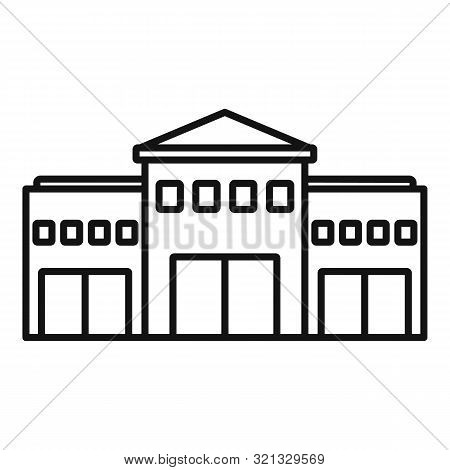 Railway Station Icon. Outline Railway Station Vector Icon For Web Design Isolated On White Backgroun