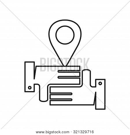 Pin Location Commitment Teamwork Together Outline Logo