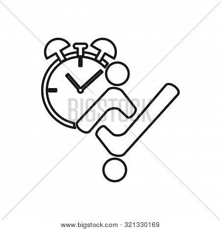 Watch Alarm Checklist Commitment Teamwork Together Outline Logo