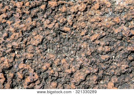 Pattern Of Close Up Laterite Texture Background